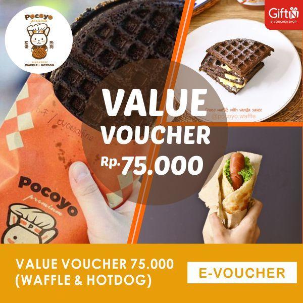 Pocoyo Value Voucher 75ribu (Waffle & Hotdog)-Duta Mall Banjarmasin