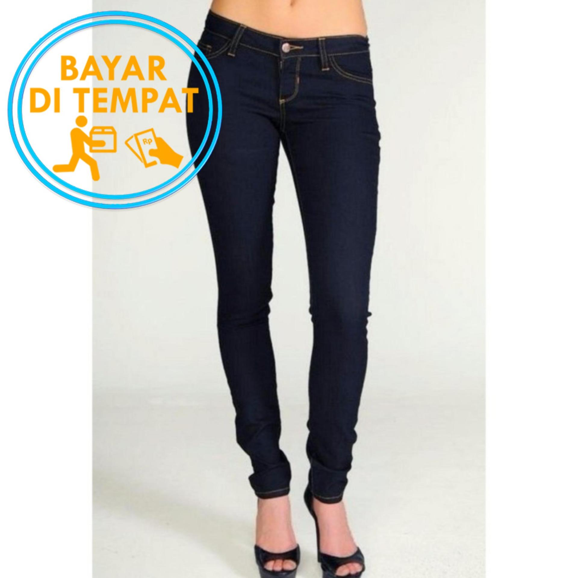 Model Celana Murah Jeans Skinny Wanita Garmen Blue Black Best Seller Terbaru