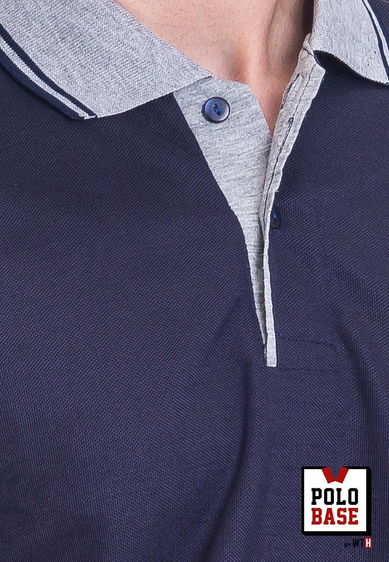Features Baju Kaos Kerah Polo Shirt Cowok Pria Biru Donker Navy Abu Beach Pantai Polobase Id 5
