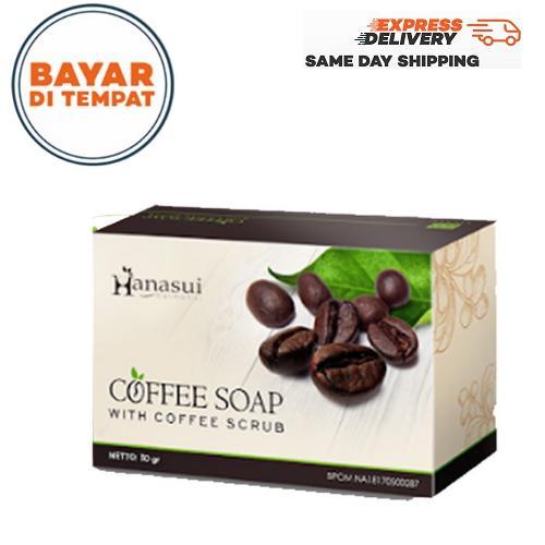 [cod] hanasui coffee soap / sabun kopi hanasui bpom 1 pcs – 30gr