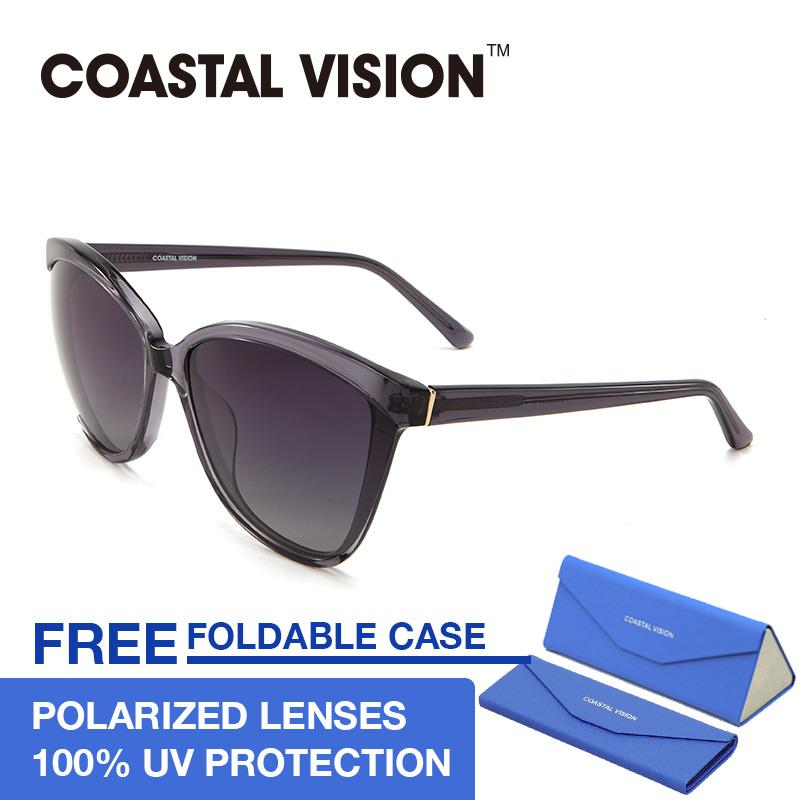Top 10 Coastal Vision Kacamata Polarized Wanita Hitam Oversize Lensa Anti Uva B Cvs5036 Online