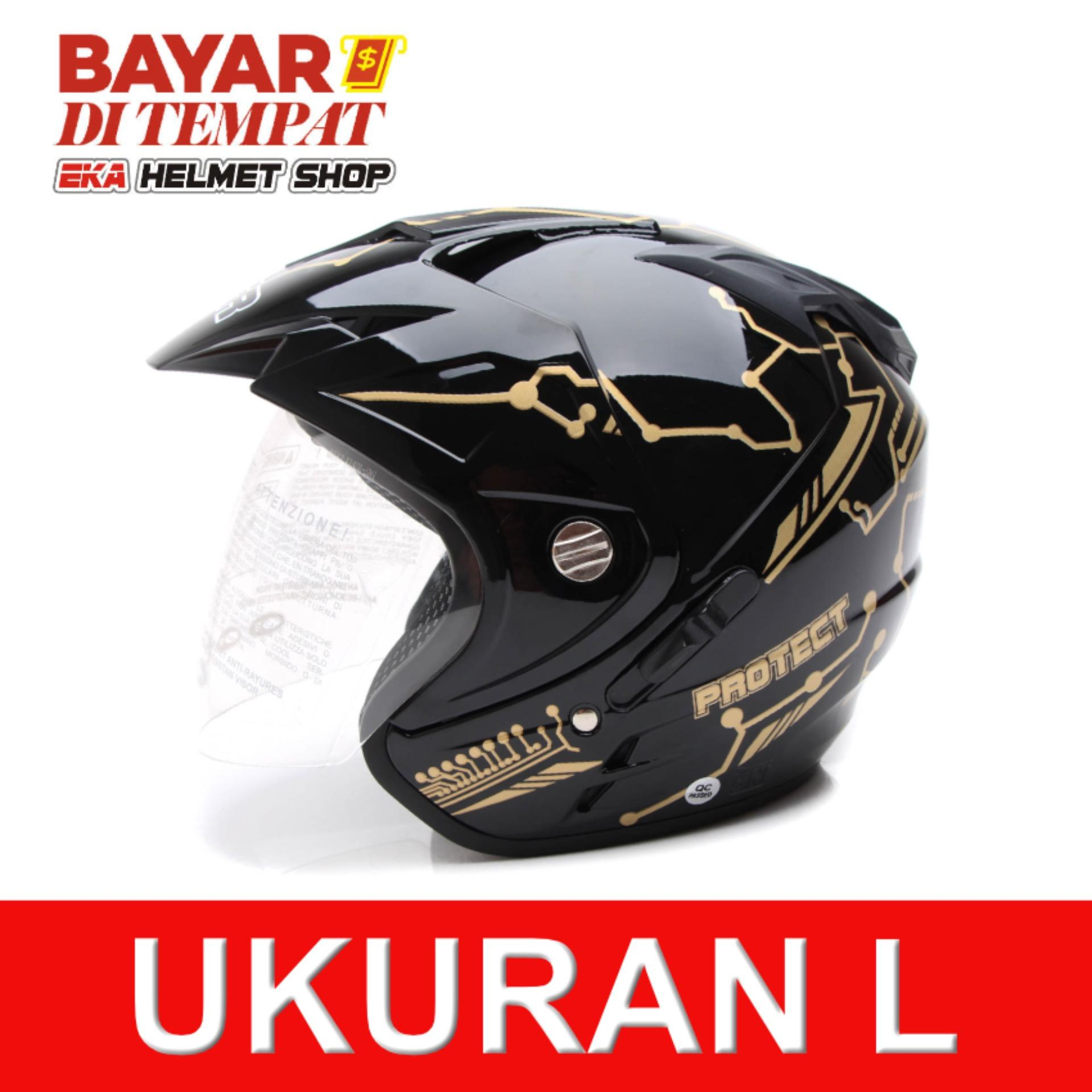Harga Hemat Msr Helmet Impressive Protect Special Edition Double Visor Hitam Gold