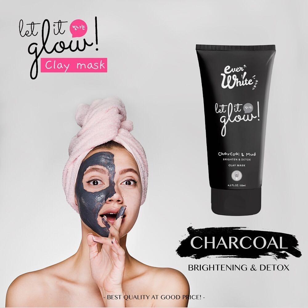 Everwhite Clay Mask Charcoal and Mud - Masker Wajah by Ever White