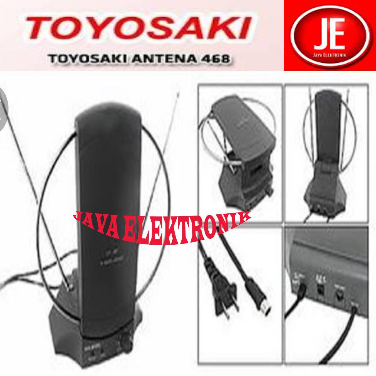 Detail Gambar Toyosaki Antena Dalam TYS 468 AW/Antena Indoor UHF + VHF ( Smart Gain Indicator Technology ) Terbaru