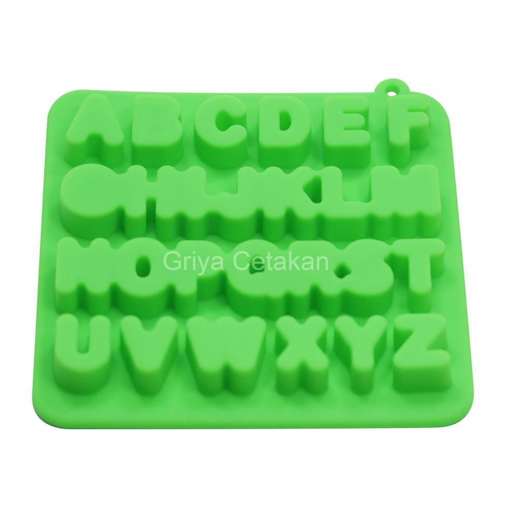 Galeri Gambar Griya Cetakan Coklat Puding Jelly Alphabet II Silicone Warna Random Model Terkini