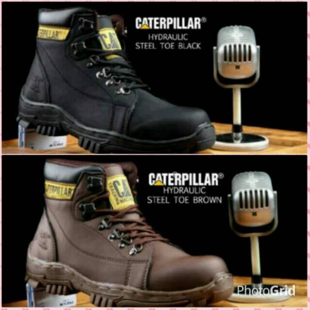 caterpillar safety boots - Sepatu Boots Pria Safety Caterpillar Tracking Hydrolic