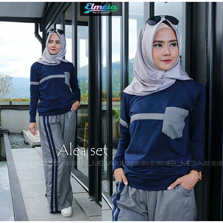 Baju Original Setelan Alea Set Baju Wanita Hijab Trendy Celana Baju Atasan Modern Modis Casual Trendy Terbaru 2018 Not Specified Diskon