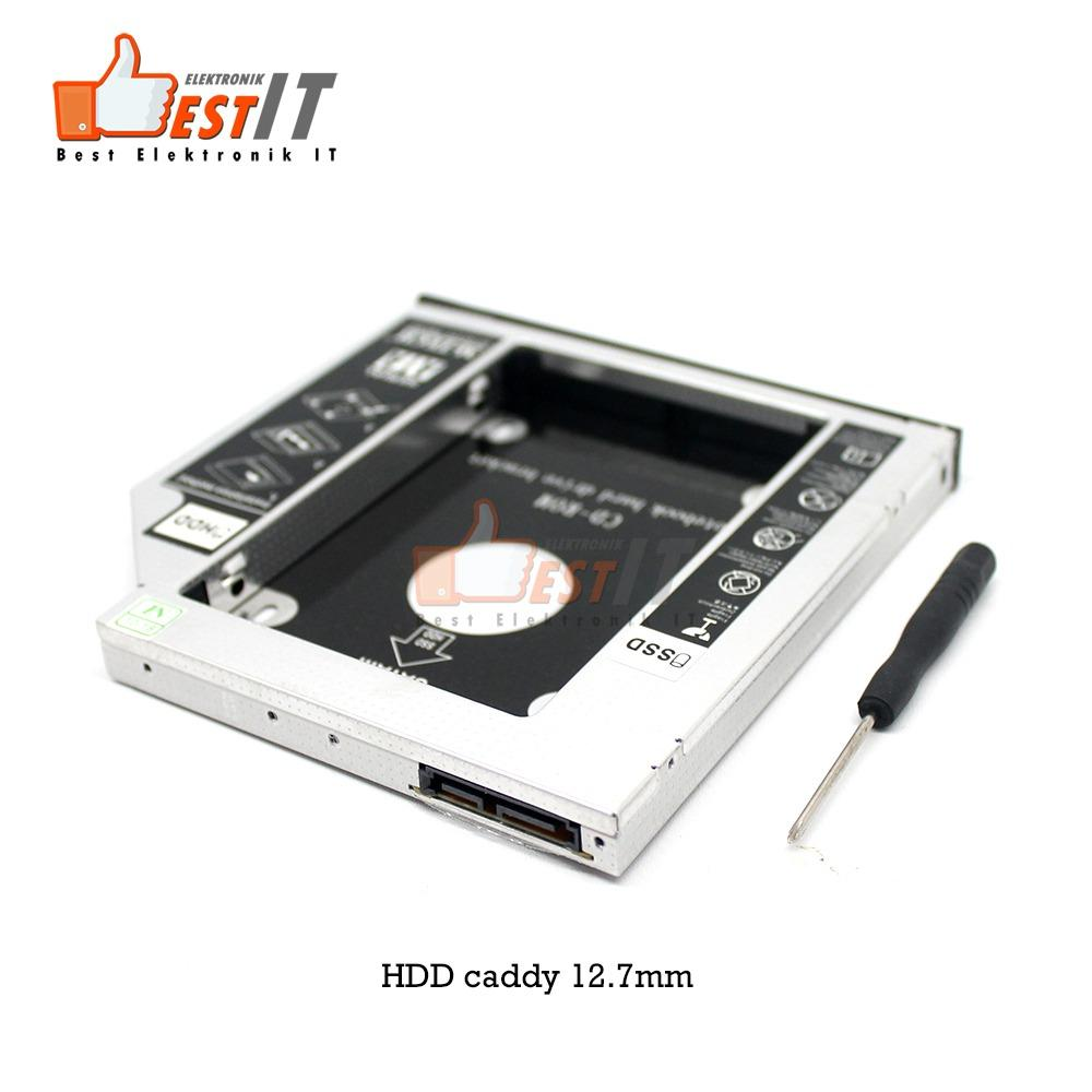 hdd caddy slim 12.7mm sata dvd slot hardisk