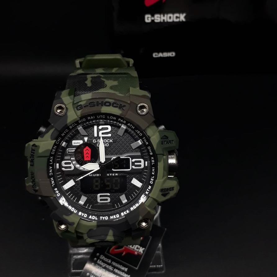 Jam Tangan fashion sport Pria G Shock Edition Army DUALTIME