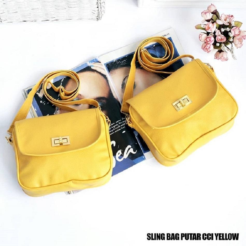 Fitur Tas Wanita Sling Bag Putar Cci Yellow Dan Harga Terkini Ransel Zipp Detail Gambar