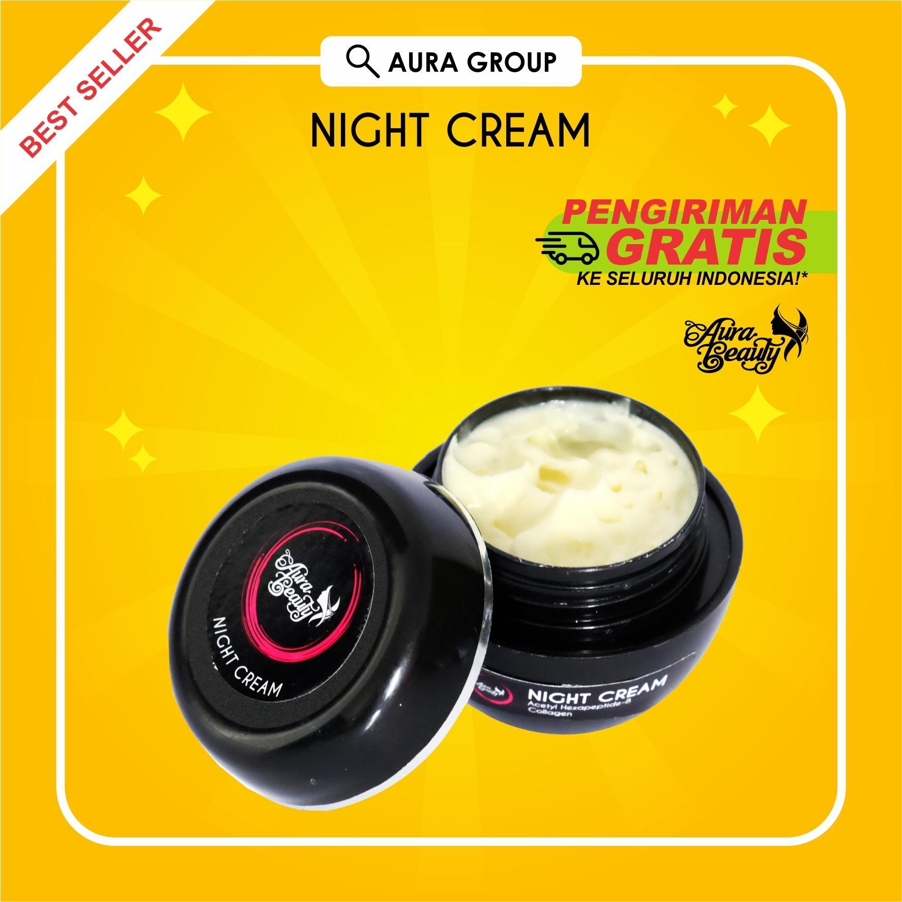 Beli Aura Beauty Night Cream Krim Malam Sebagai Cream Pemutih Wajah Membantu Menutrisi Kulit Dari Dalam Sebagai Pelembab Diperkaya Collagen Agar Kulit Wajah Cerah Alami Dan Kencang Online Murah