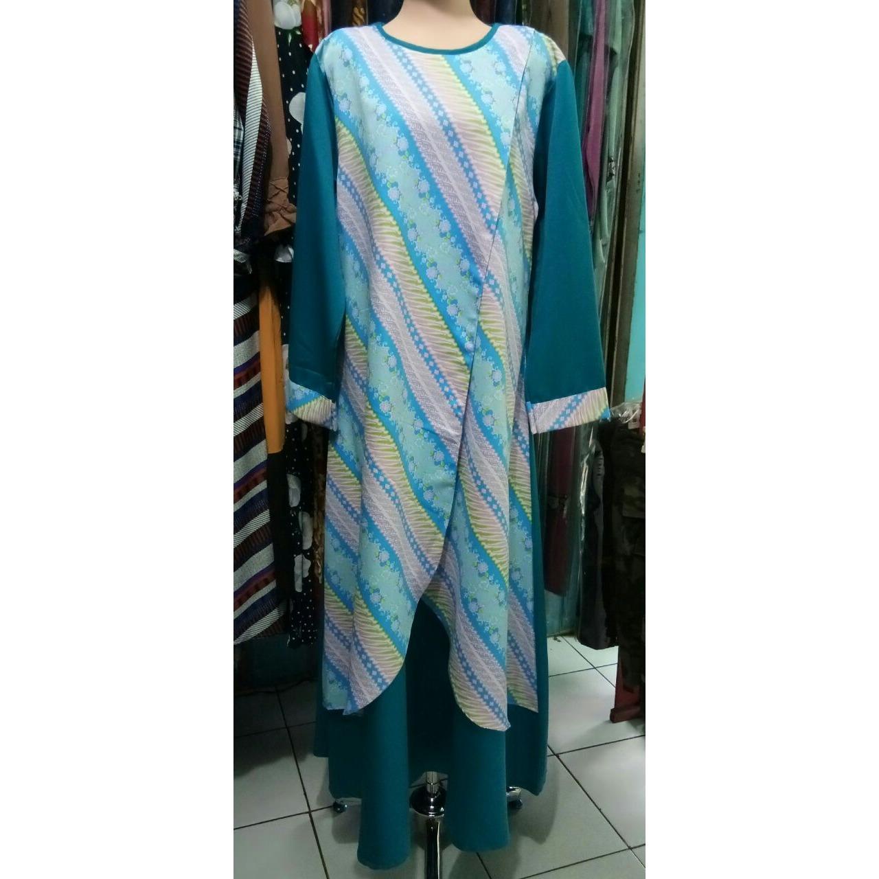 Gamis Cantik Abaya Batik Dengan Bahan Batik Dan Baloteli