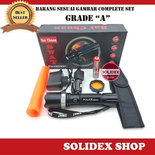 Jual Solidex Senter Polisi Swat Flashlight Police Bai Chuan Satu Set