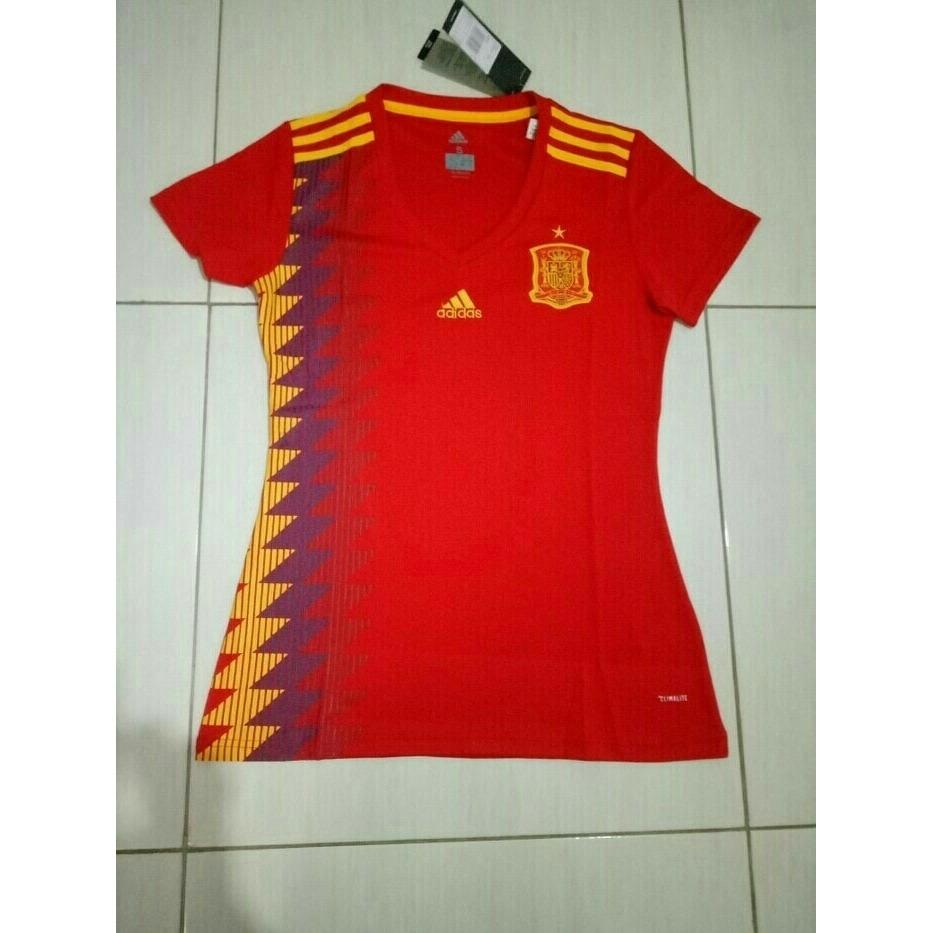 JERSEY BOLA LADIES SPANYOL HOME WORLD CUP PIALA DUNIA 2018