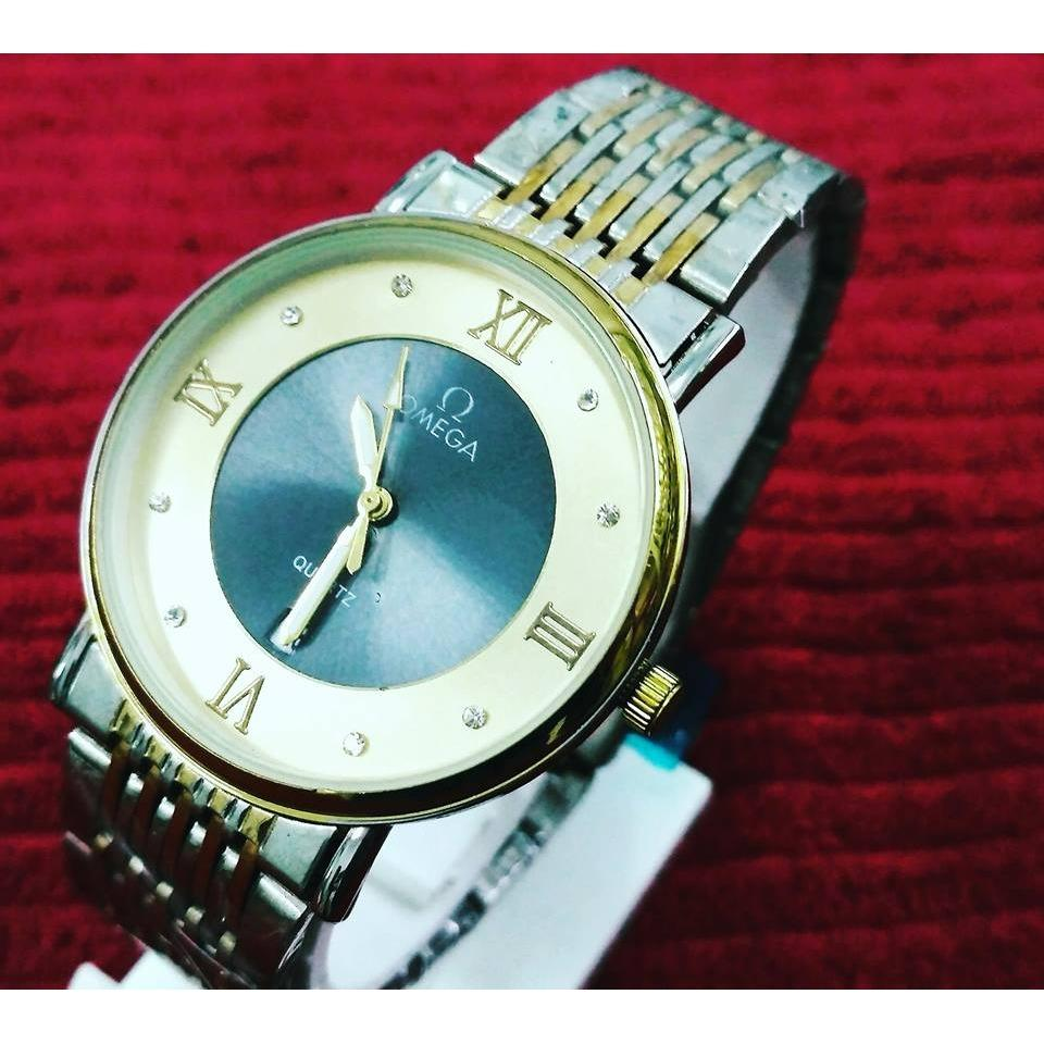 Jam Tangan Wanita Omega Warna Gold - Sumber Jam