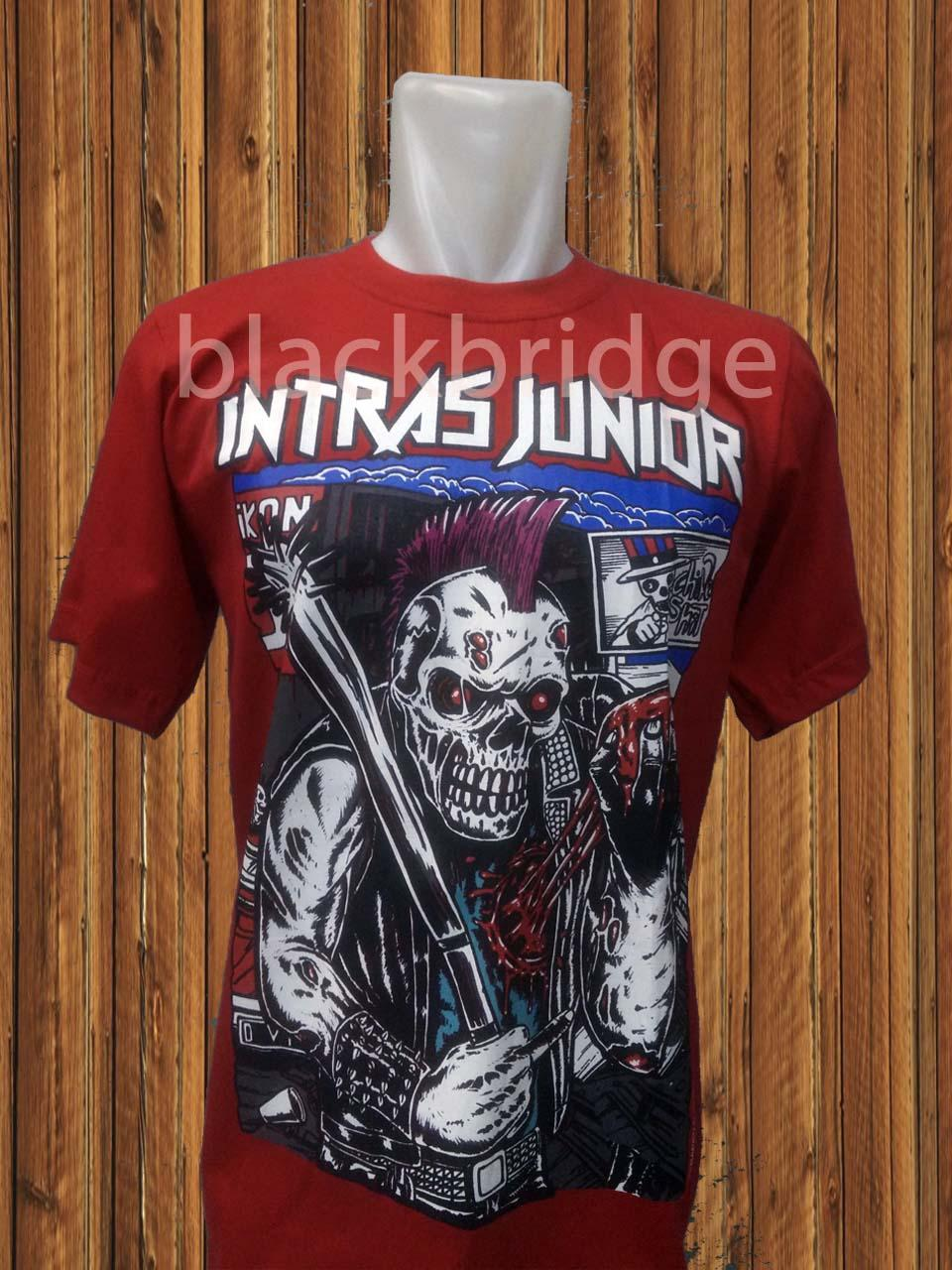 Kaos Pendek - Oblong Metal/Punk Lokal PRAPATAN REBEL (Size M) - INTRAS JUNIOR