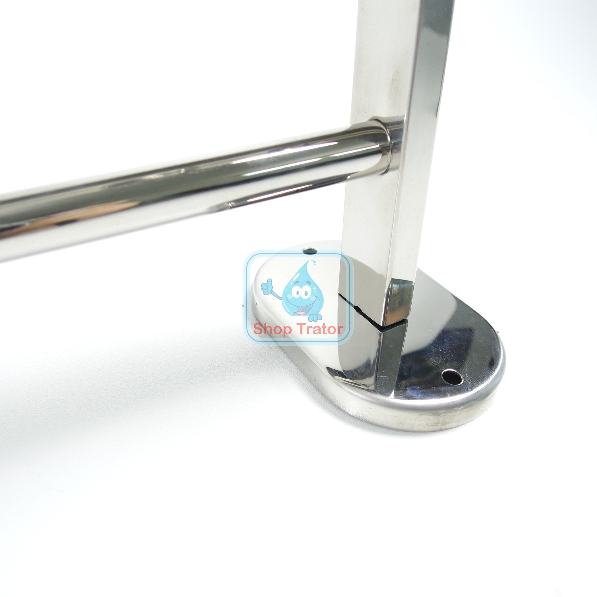Fitur Rak Handuk Stainless Minimalis 2 Susun 60 Cm Murah Gantungan Dinding Serbaguna Aluminium 3 5
