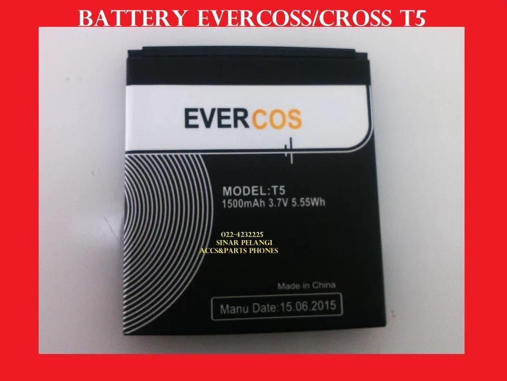 EVERCOSS CROSS T5 BATRE BATERAI BATTERY 902589