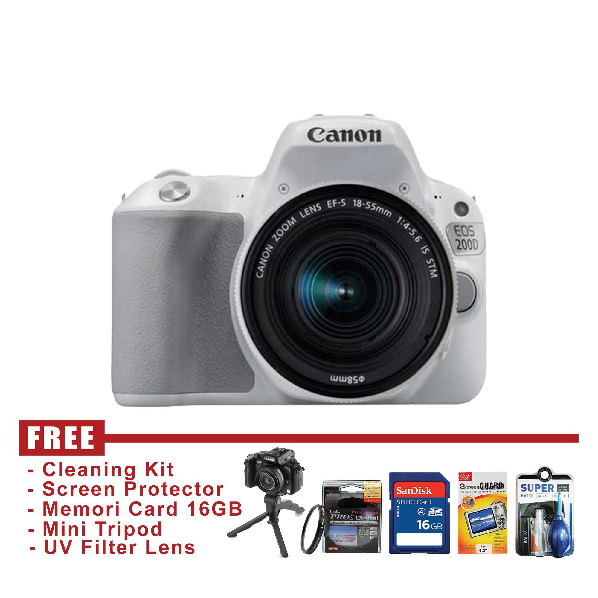Kelebihan Kamera Canon Eos Kiss X7i Kit 18 55 Stm Terkini Daftar 70d Lensa Is Dslr 200d Putih Free Accessories