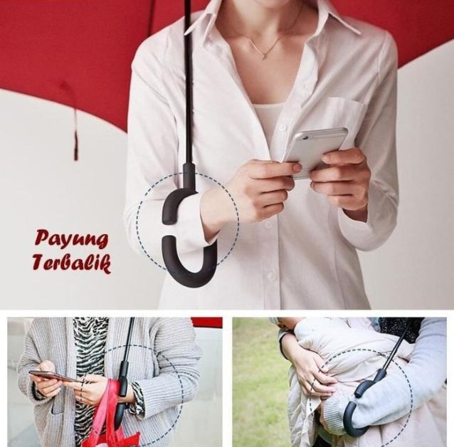 ... Payung Terbalik Kazbrella Reverse Umbrella Gagang - 3 ...