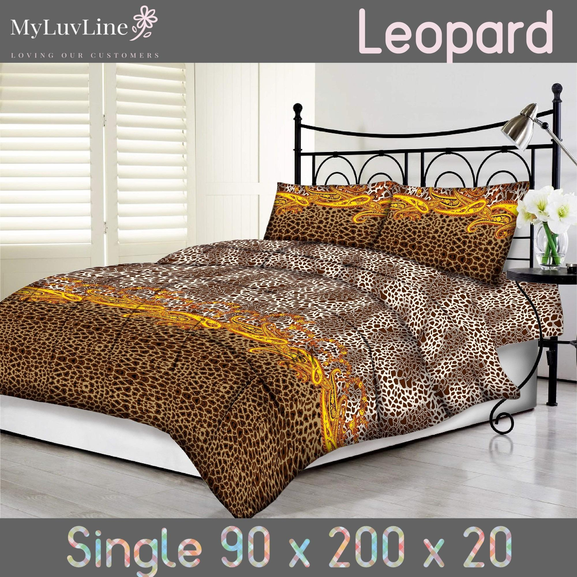 Kualitas Tommony Sprei Size 90 S D 180 Leopard Tommony