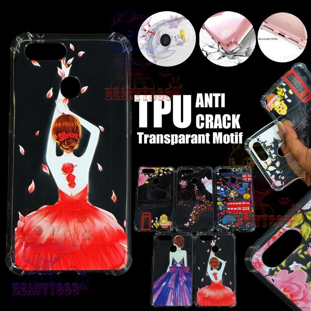 Beauty Case Anti Crack Realme 2 Case 3D Luxury Animasi Perempuan Gaun Merah Softcase Anti Jamur