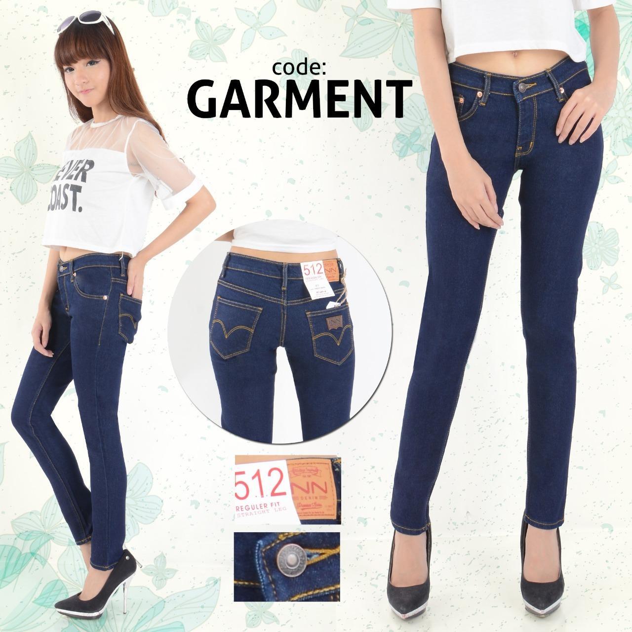 Toko Nusantara Jeans Celana Panjang Wanita Model Skinny Berbahan Soft Jeans Ripped Resleting Kuat Jahitan Rapi Murah Biru Dongker Dki Jakarta