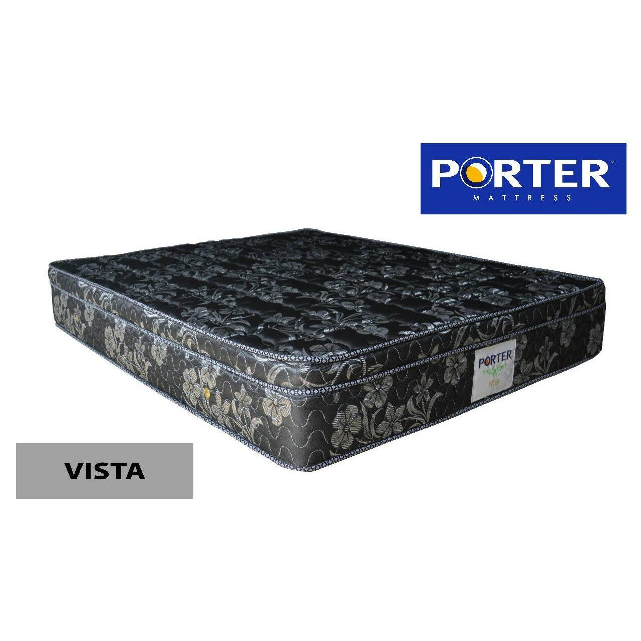Porter Spring Bed Vista Rebonded Plush Top Bonnel Spring [JABODETABEK ONLY]