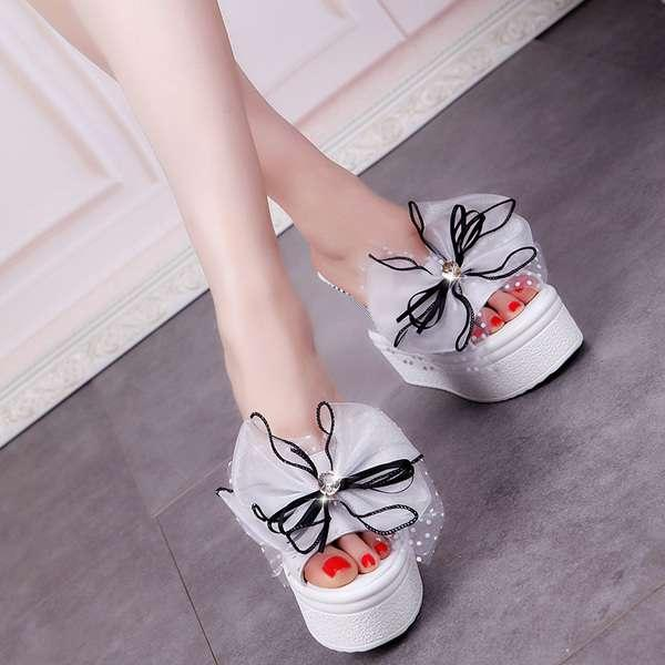 Adibamine-Sandal Wedges Variasi Pita Dl 21 New