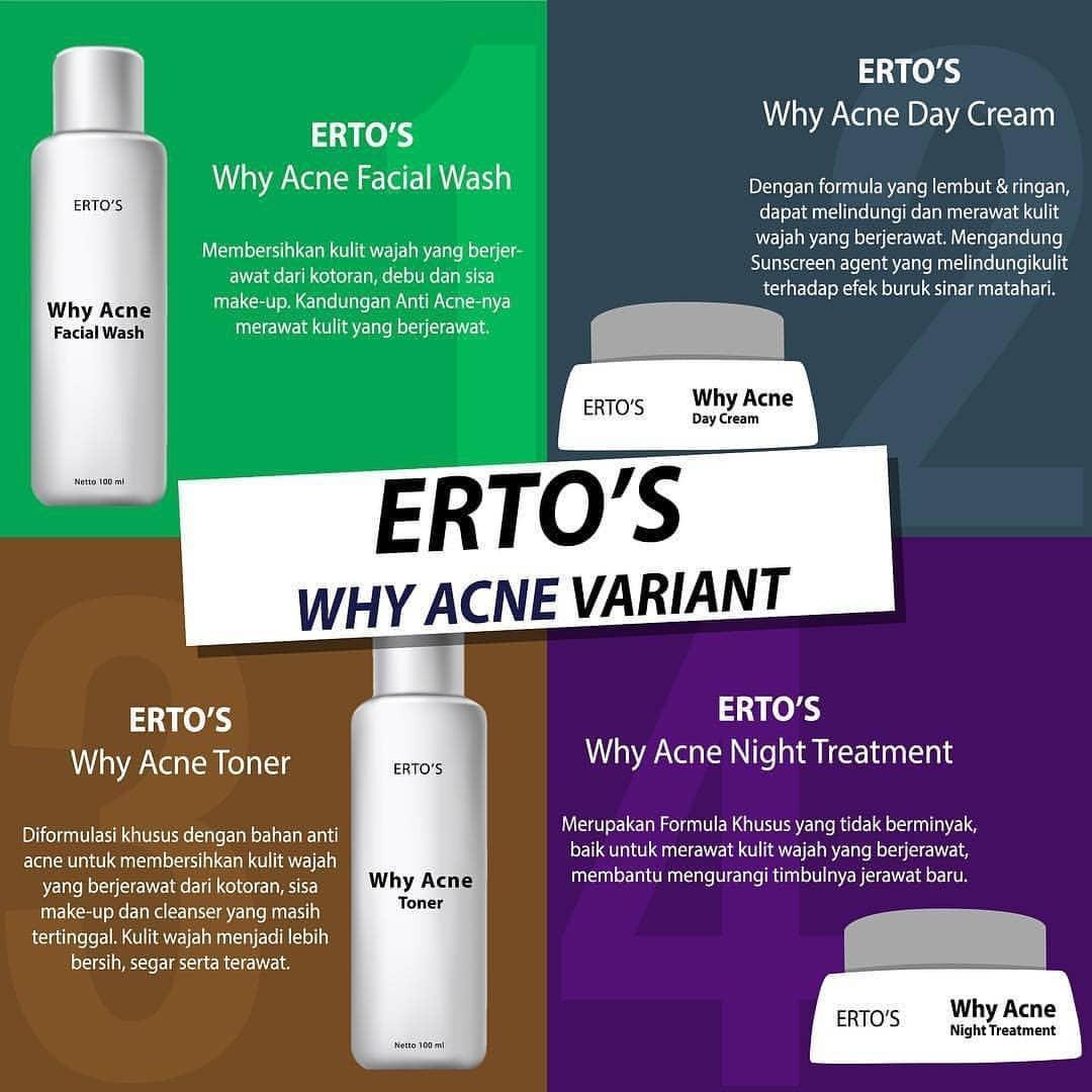 Cek Harga Baru Ertos Why Acne Night Cream Bpom Original 100 Perawatan Wajah Malam 50gr 5