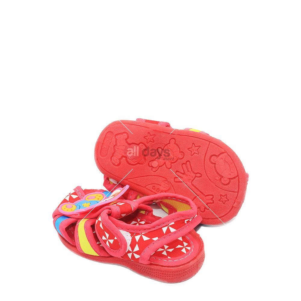 Alldaysmart Sepatu Sandal Anak Bayi 1607 100 Bunyi Decit Empuk Red Lusty Bunny Batik Love Pink20 Random Motif Size 15 20 3