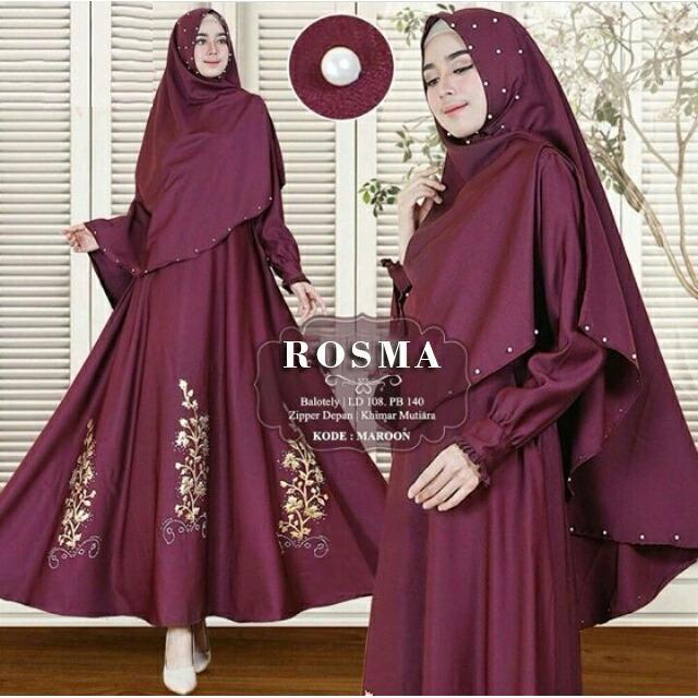 Toko Syari I Wanita Gamis Wanita Maxi Wanita Baju Muslim Terbaru R5 Maroon Trend Baju Di Dki Jakarta