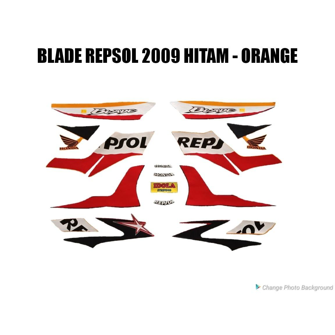 Diskon Striping Blade Repsol 2009 Hitam Orange Jambi