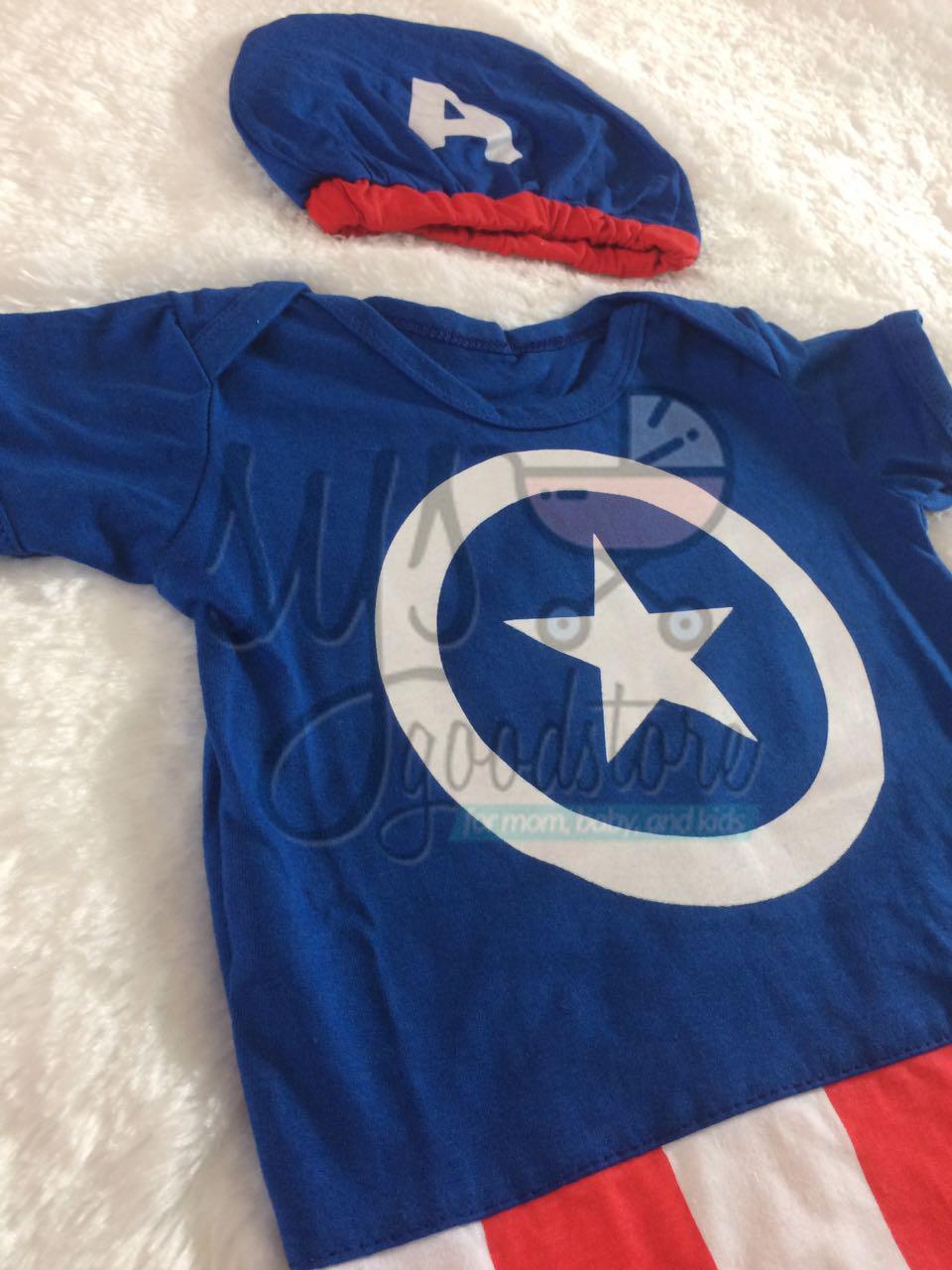 Fitur Sysgoodstore Jumper Bayi Captain America New Version Good Baju Karakter Detail Gambar Quality Laki