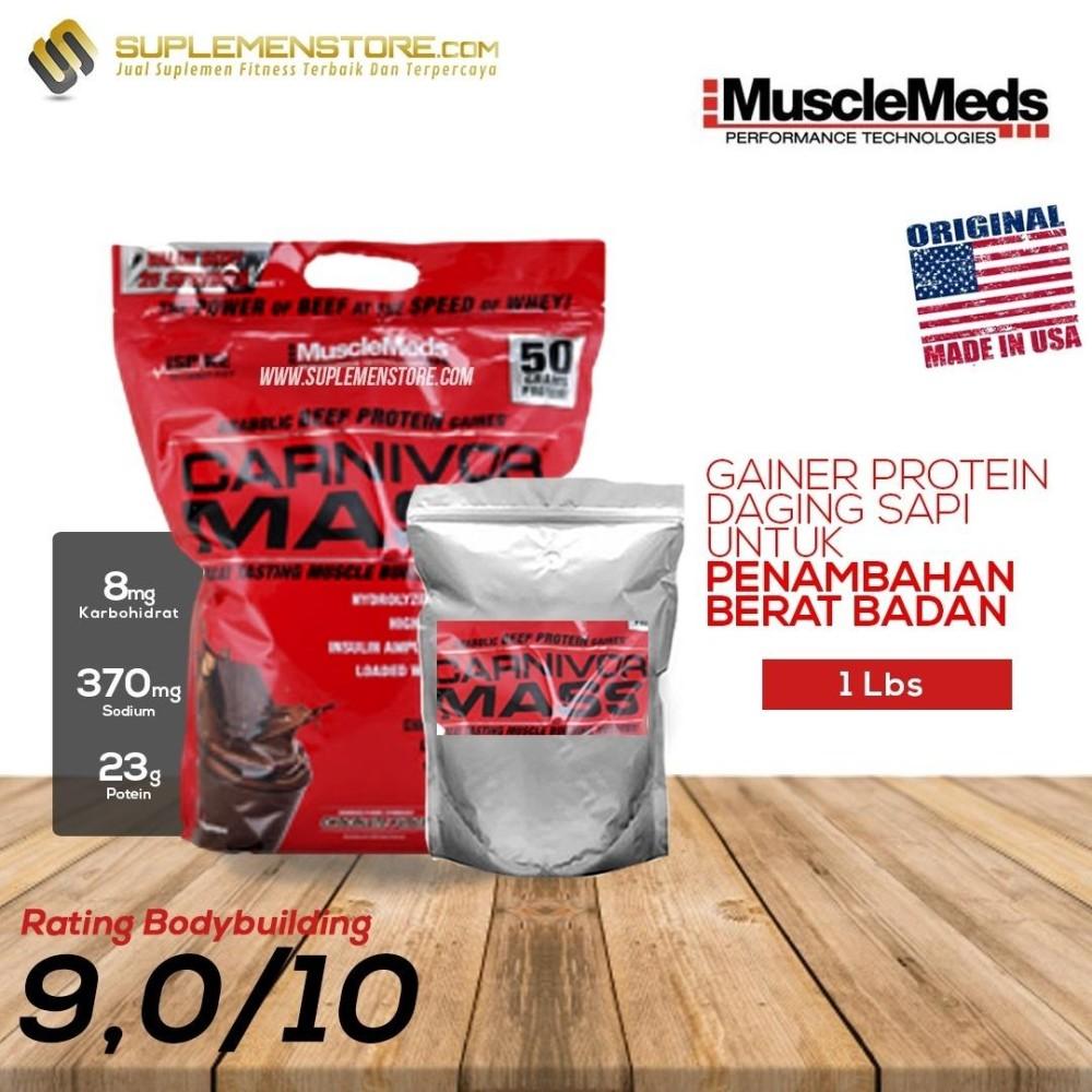 Spesifikasi Musclemeds Carnivor Mass Eceran 1Lb Cokelat Murah Berkualitas