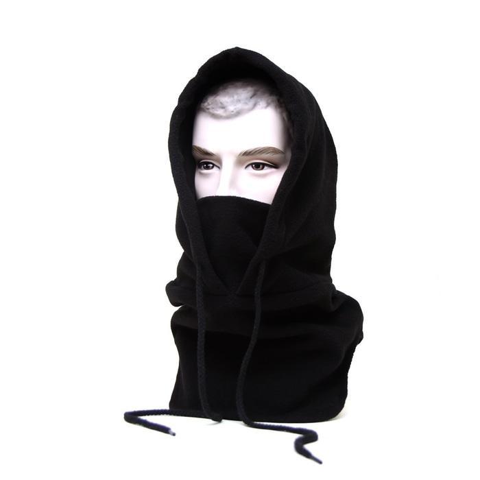 4 in 1 Thermal Fleece Balaclava full face Masker Kupluk Polar Panjang - black - 2 ...