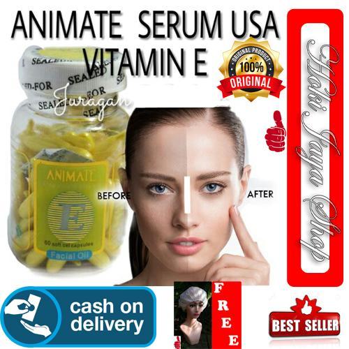 HOKI COD - ANIMATE - Serum Gold Vitamin Wajah Aloe Vera Facial Oil hanasui - 60