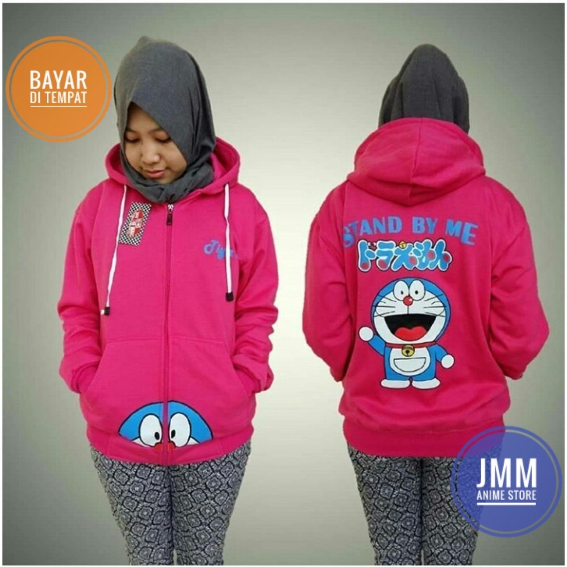 Harga Jaket Sweater Doraemon Pink Hoodie Zipper Yang Bagus