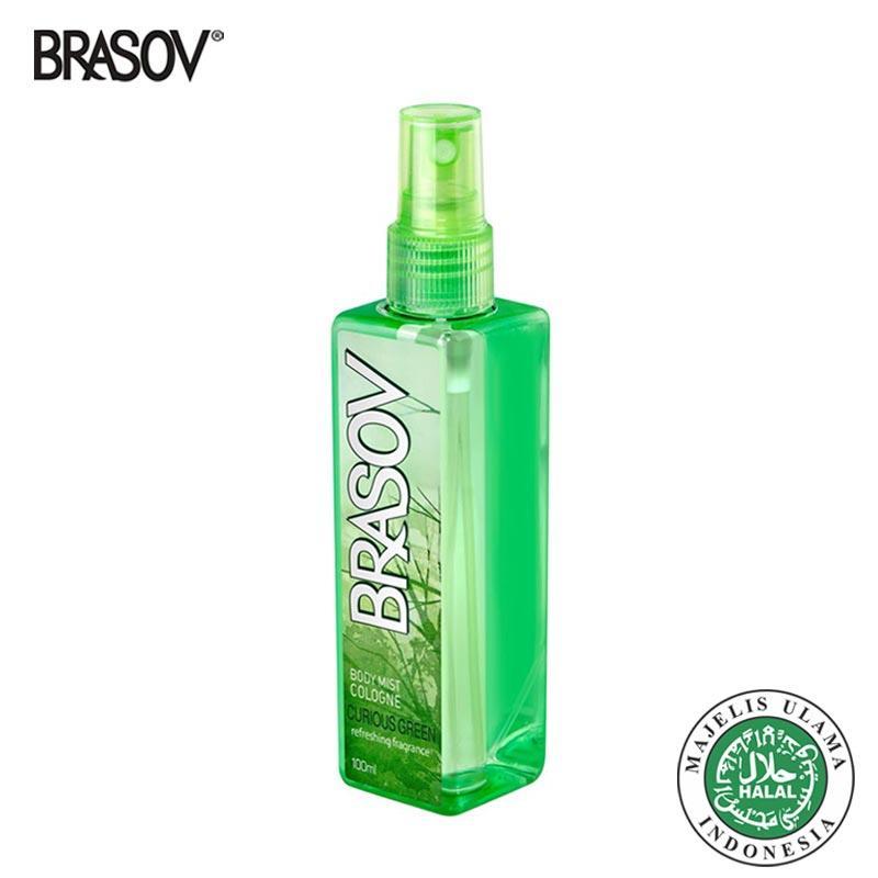 BRASOV Original Body Mist Halal XX-CT-671375 Curious Green Parfum Spray Netto 100