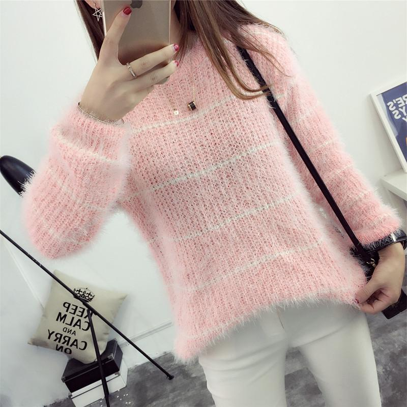 Baju Dalaman Korea Fashion Style Rajutan Sweter Siswa Leher Bulat