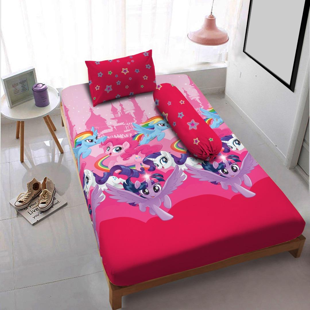 Harga Kintakun Dluxe Sprei Single 120X200 Cm Kingdom Of Pony Kintakun Asli