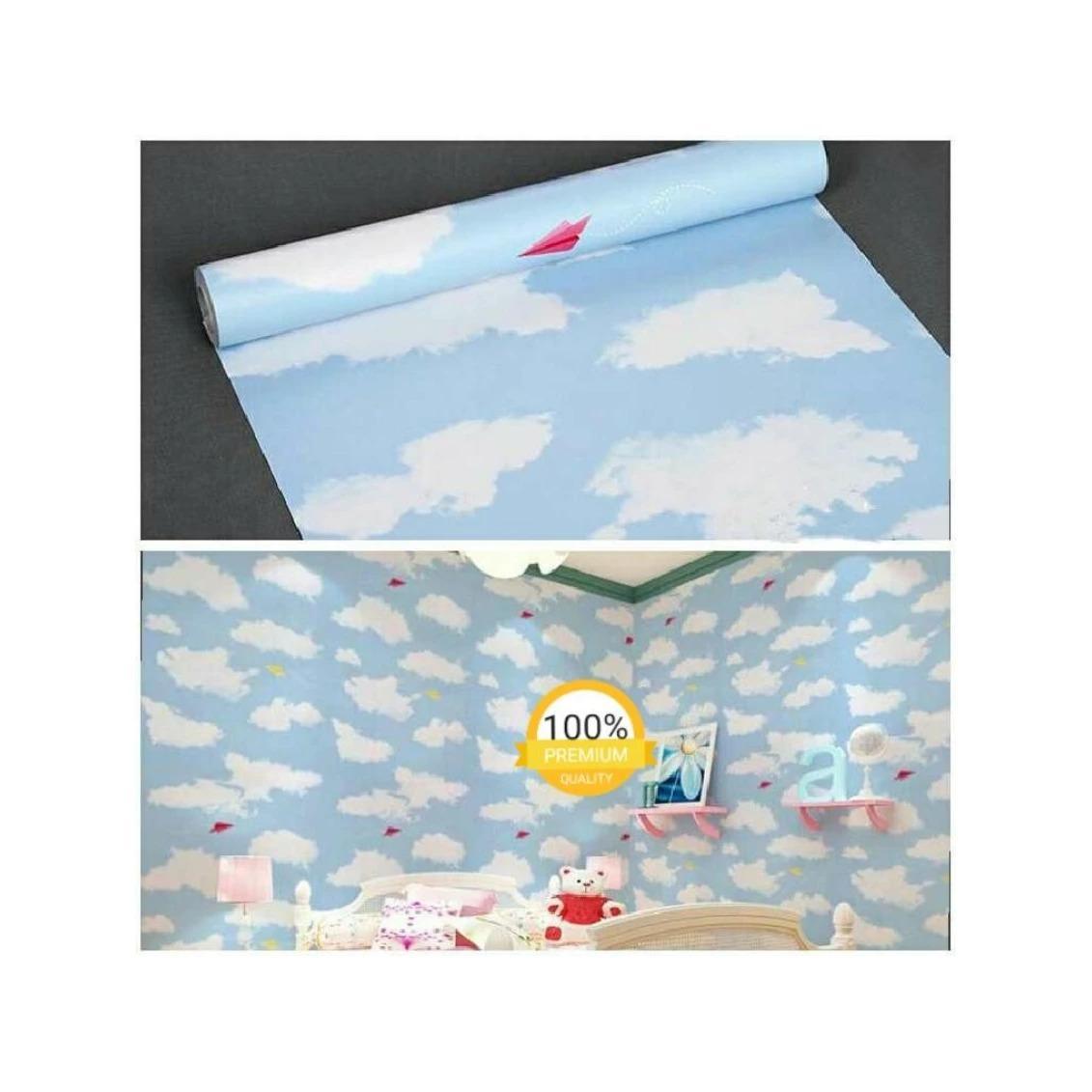 Kehebatan Wallpaper Sticker Dinding Biru Karakter Kantong Ajaib Langit Awan Naturalrestu Ibu