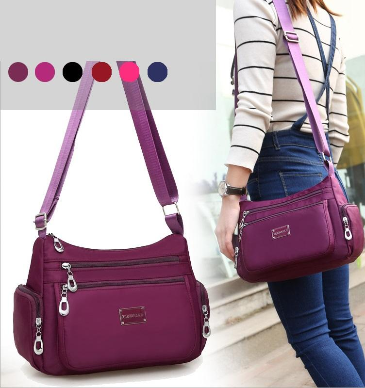 Waterproof Nylon Shoulder Bag Tas Selempang Wanita Import CS-015