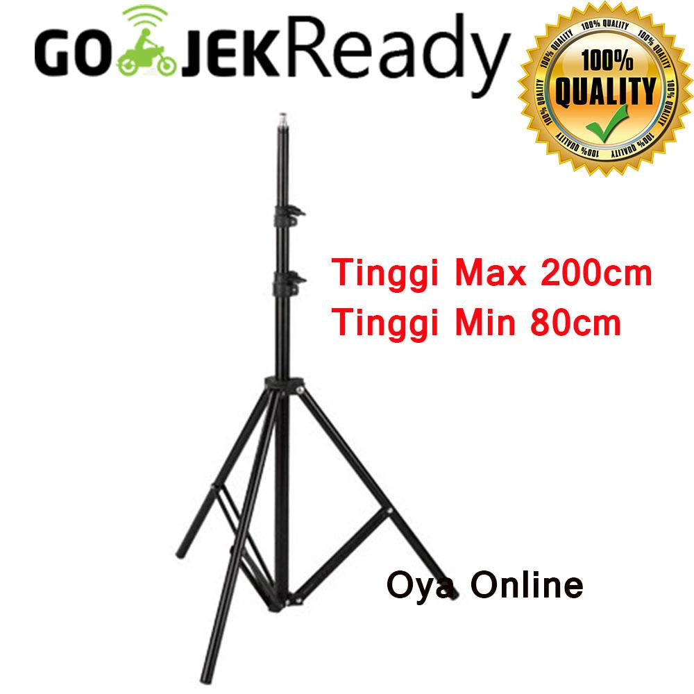 Portable Light Stand Tripod 3 Section 200cm for Studio Lightning Flash