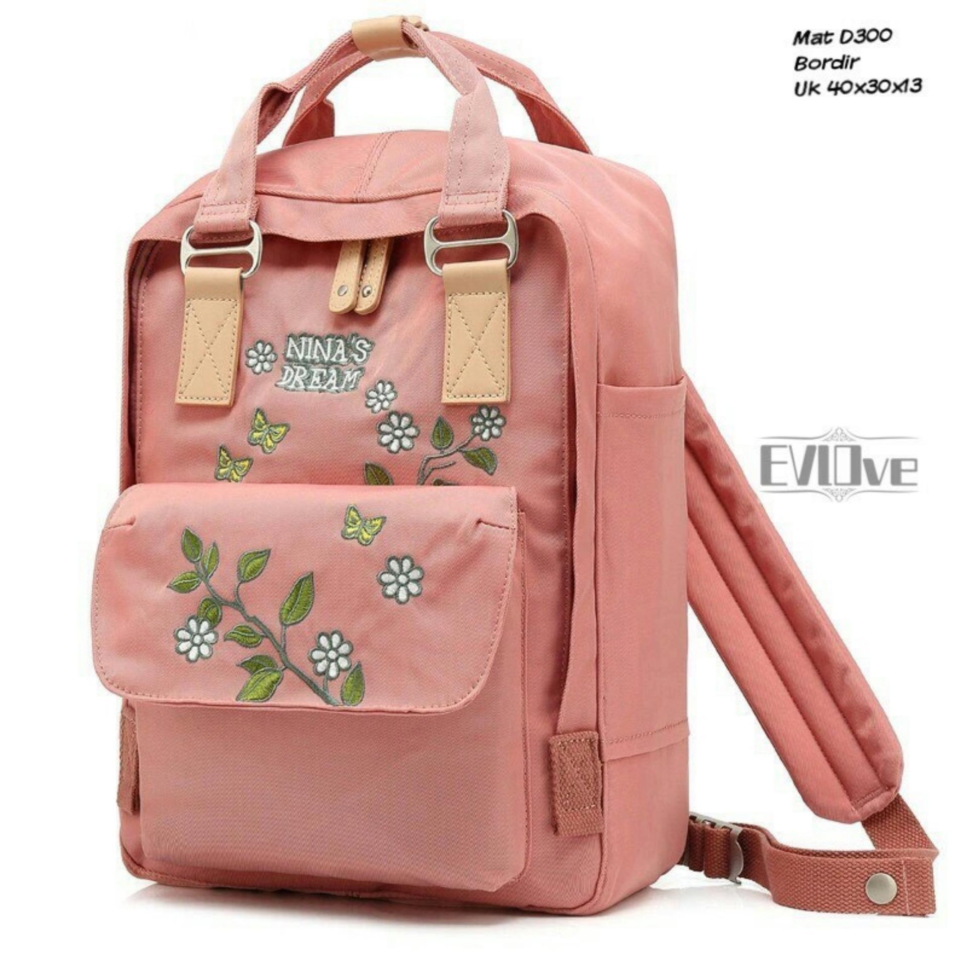 Cek Harga Baru Aal Brand Backpack Wanita 4in1 Terbaru Tas Ransel Vicria Branded High Quality Elegant Korean Bag Style Pink Dough Floral Sekolah