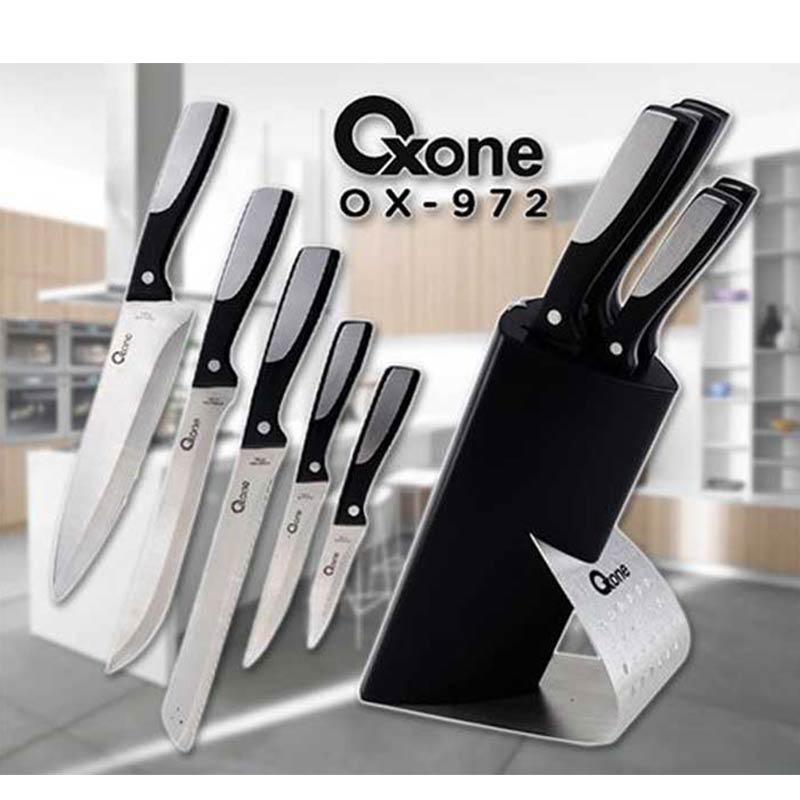 Oxone Knife Block Set OX-972 Satu Set Pisau Dapur Multifungsi