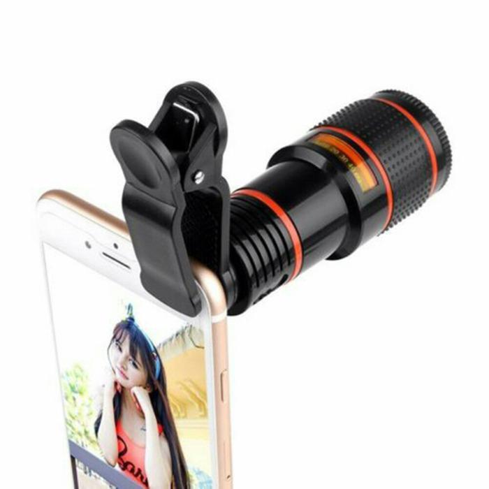 Telezoom Lensa Clip Jepit 8x Zoom Optical Mobile Phone