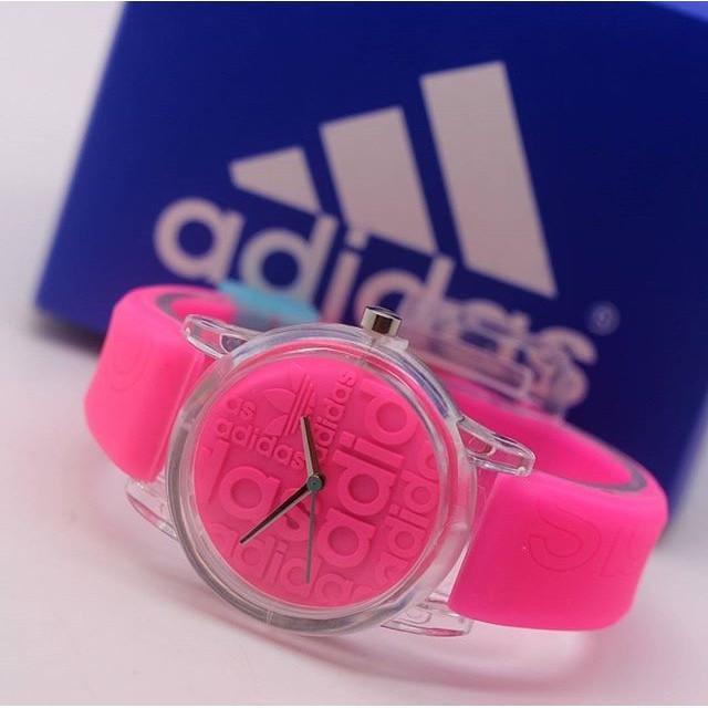 Jam Tangan Pria / Wanita Murah Adidas Sky Rubber Pink