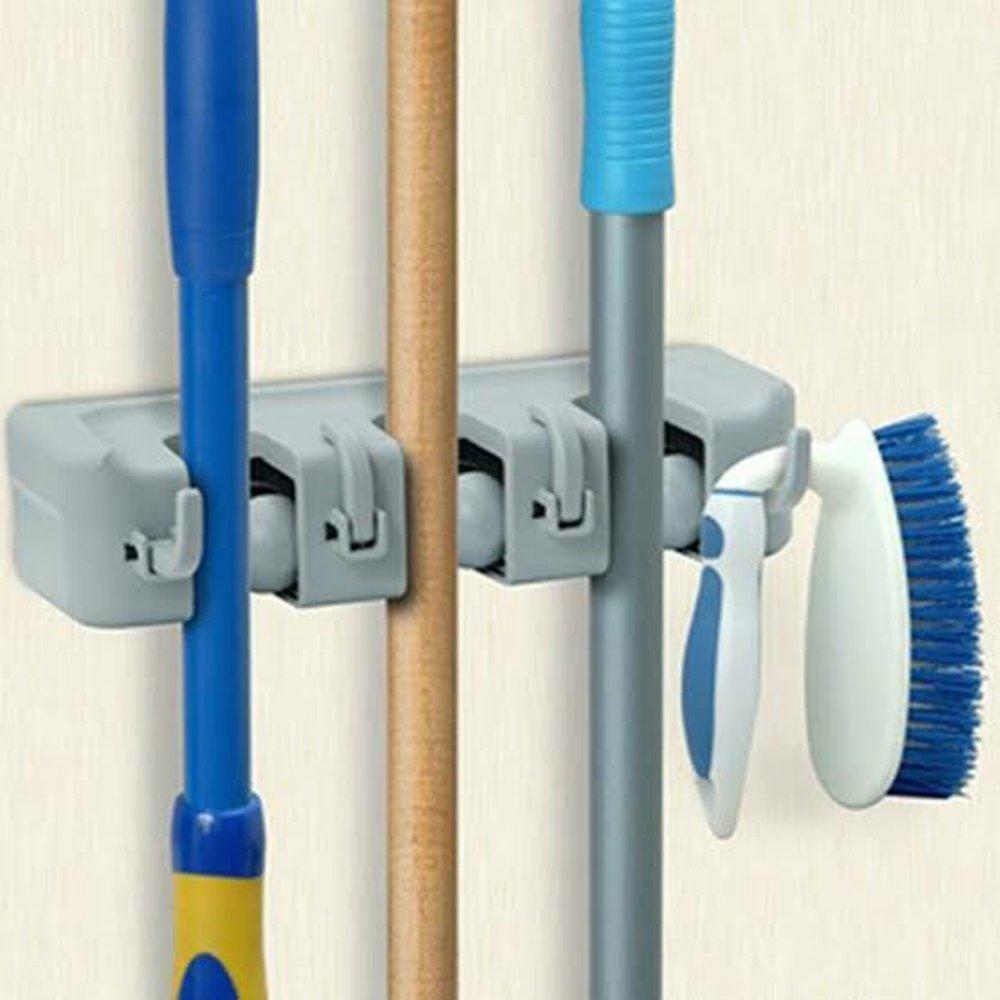 small mop holder gantungan sapu alat pel dengan hook 3 slot