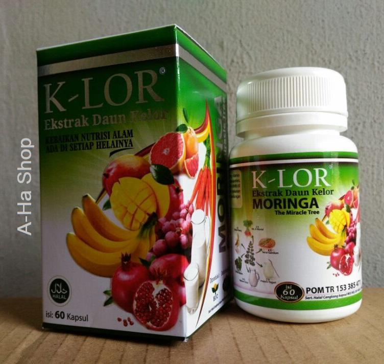 Herbal K-LOR Ekstrak Daun Kelor 60 kapsul